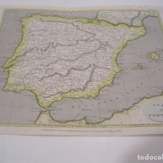 Mapas contemporáneos: MAP OF SPAIN AND PORTUGAL 1802. Lote 195126496
