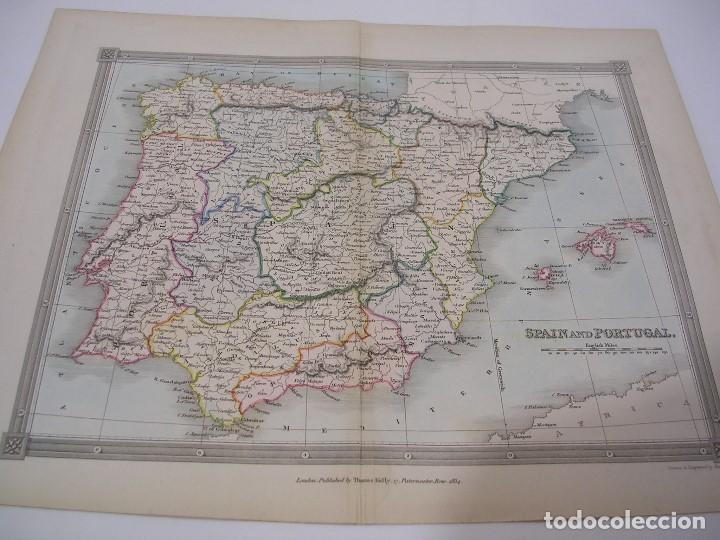 MAP OF SPAIN AND PORTUGAL 1834 (Coleccionismo - Mapas - Mapas actuales (desde siglo XIX))