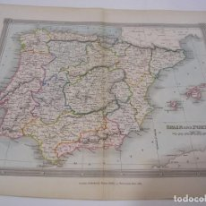 Mapas contemporáneos: MAP OF SPAIN AND PORTUGAL 1834. Lote 195126966