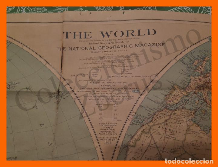 Mapas contemporáneos: Mapa El Mundo - The World - National Geographic Magazine - 1935 - Foto 2 - 195168188