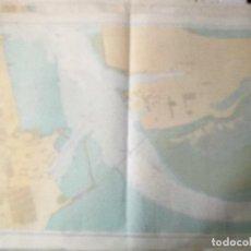 Mapas contemporáneos: CARTAS NÁUTICAS DE LA BAHIA DE CADIZ Y PUERTO DE CADIZ I Y II CASI MURALES. Lote 195229302