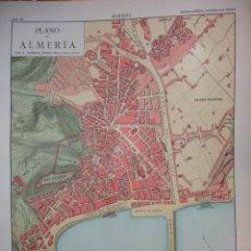 Mapas contemporáneos: ALMERIA PLANO DE LA CIUDAD .28X20 .1854. Lote 195278586