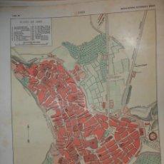 Mapas contemporáneos: JAEN PLANO DE LA CIUDAD .28X20 .1854. Lote 195278815