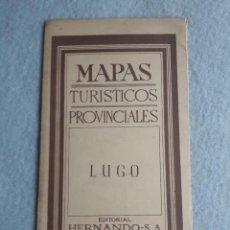 Mapas contemporáneos: MAPA TURÍSTICO PROVINCIAL. LUGO. EDITORIAL HERNANDO.. Lote 195282468