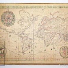 Mapas contemporáneos: MAPAMUNDI / MAPA IMPRESO SOBRE LIENZO - ANTIGUO MAPAMUNDI - NOVA TOTIUS TERRARUM ORBIS... 1639. Lote 195295410