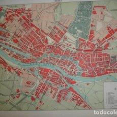 Mapas contemporáneos: BREMA PLANO DE LA CIUDAD .20X28 .1854. Lote 195355505