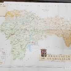 Mapas contemporáneos: MAPA PROVINCIAL DE GUADALAJARA 80X64 CM 1:250.000. 1972. EDICIÓN CAJA AHORROS PROVINCIAL GUADALAJARA. Lote 195391176