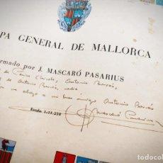 Mapas contemporáneos: MAPA GENERAL DE MALLORCA MASCARÓ PASARIUS 1958 - LEER DESCRIPCION - DEDICADO Y FIRMADO POR AUTOR. Lote 195410927