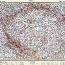 Mapas contemporáneos: MAPA (GRABADO COBRE) DE BOHEMIA (CHECOSLOVAQUIA). STIELERS HAND-ATLAS, EDICIÓN DEL CENTENARIO 1931. Lote 195418183