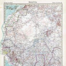 Mapas contemporáneos: MAPA (GRABADO COBRE) DE ÁFRICA OCCIDENTAL (ENTREGUERRAS). STIELERS HAND-ATLAS ED. CENTENARIO 1931. Lote 195418196