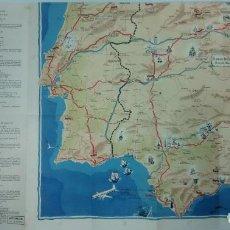 Mapas contemporáneos: MAPA ESPAÑA, OBSEQUIO DEL BANCO DE BILBAO, SERVICIO EXTERIOR, EN INGLES, LITOGRAFÍA J. G. VALVERDE. . Lote 195418427