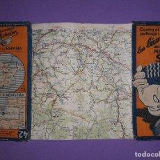 Mapas contemporáneos: ANTIGUA GUÍA NEUMATICOS MICHELIN MAPA DE ESPAÑA NÚMERO 42,BURGOS-S.SEBASTIAN . Lote 195442493