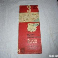 Mapas contemporáneos: FIRESTONE HISPANIA MAPA DE CARRETERAS 3.1964.-ESCALA 1:500.000.-4ª EDICION. Lote 195489411