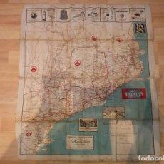 Mapas contemporáneos: GUIA DEL AUTOMOVILISTA - MAPA DE LAS CARRETERAS DE CATALUÑA - 1928. Lote 195496513