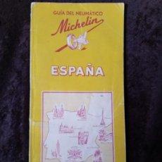 Mapas contemporáneos: GUÍA * MICHELÍN * DE ESPAÑA (1952-53) / MAPAS Y MUCHA MAS INFORMACIÓN. 142 PÁGINAS. AÑO 1951.. Lote 196285000
