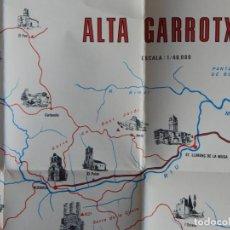 Mapas contemporáneos: MAPA ALTA GARROTXA ESCALA 1/40000 ANY: 1977 - CAIXA D'ESTALVIS PROVINCIAL DE GIRONA. Lote 196576692