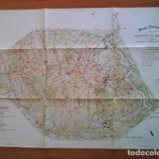 Mapas contemporáneos: MAPA TOPOGRÁFIC DE LA MUNTANYA DE MONTSERRAT. Lote 287645443