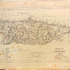 Mapas contemporâneos: PROVINCIA DE OVIEDO, ASTURIAS. F RUBIO Y CIA. 1866. Lote 197544517