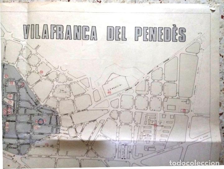 Mapas contemporáneos: MAPA DE VILAFRANCA DEL PENEDÈS - GERSA 1981 - Foto 3 - 198022977
