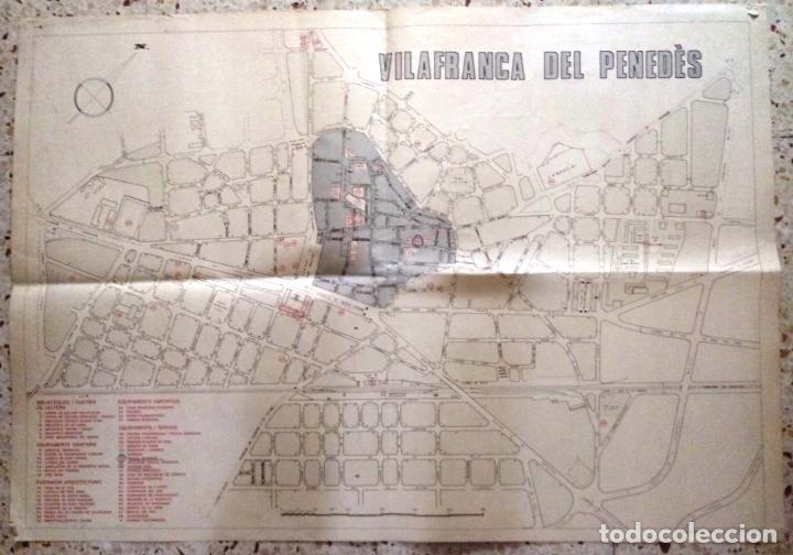 MAPA DE VILAFRANCA DEL PENEDÈS - GERSA 1981 (Coleccionismo - Mapas - Mapas actuales (desde siglo XIX))