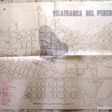 Mapas contemporáneos: MAPA DE VILAFRANCA DEL PENEDÈS - GERSA 1981. Lote 198022977