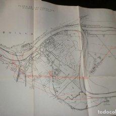 Mapas contemporáneos: ANTIGUO MAPA DEL PUERTO DE SEVILLA DE 1925. Lote 198386481