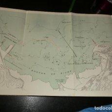 Mapas contemporáneos: ANTIGUO MAPA DEL PUERTO DE GIJON 1925. Lote 198386608