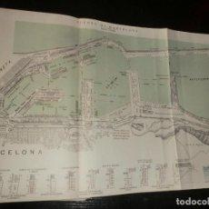 Mapas contemporáneos: ANTIGUO MAPA DEL PUERTO DE BARCELONA 1925. Lote 198386748