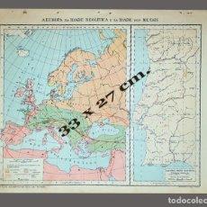 Mapas contemporáneos: EUROPA, EDAD NEOLÍTICA Y EDAD DE METALES - IMPRESO INSTITUTO GEOGRÁFICO DE AGOSTINI, NOVARA, 1925. Lote 198588526