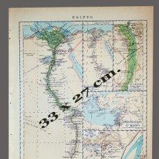 Mapas contemporáneos: EGIPTO - IMPRESO INSTITUTO GEOGRÁFICO DE AGOSTINI, NOVARA, 1925. Lote 198588646