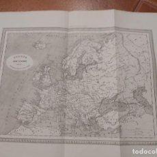 Mapas contemporáneos: MAPA EUROPA. EDITOR JUAN OLIVERES 1863. Lote 198745965
