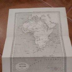 Mapas contemporáneos: MAPA ÁFRICA. EDITOR JUAN OLIVERES 1863. Lote 198746355