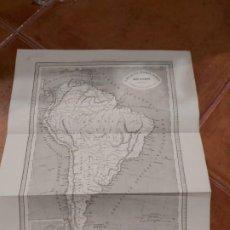 Mapas contemporáneos: MAPA AMÉRICA DEL SUR EDITOR JUAN OLIVERES 1863. Lote 198747183