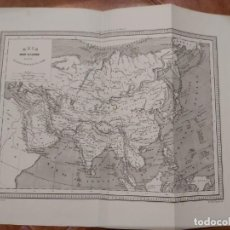 Mapas contemporáneos: MAPA ASIA EDITOR JUAN OLIVERES 1863. Lote 198747405