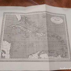 Mapas contemporáneos: MAPA LAS ANTILLAS EDITOR JUAN OLIVERES 1863. Lote 198747746