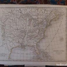 Mapas contemporáneos: MAPA ESTADOS UNIDOS ESTE. Lote 198748775