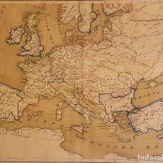 Mapas contemporáneos: MAPA DE EUROPA (ALEMANIA, S.XIX) 24.5 X 52 SE PRESENTA ENMARCADO... Lote 199343663