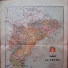 Cartes géographiques contemporaines: MAPA- ALICANTE- PROVINCIA- BENITO CHIAS 1904. Lote 199388351