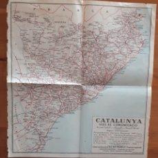 Mapas contemporáneos: MAPA CATALUNYA VIES DE COMUNICACIÓ DIETARI MANELIC. Lote 199498803