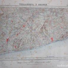 Mapas contemporáneos: PLANO, MAPA VILANUEVA Y GELTRÚ (VILANOVA I LA GELTRÚ) - INSTITUTO GEOGRÁFICO - 1ª ED - 1928. Lote 199559713