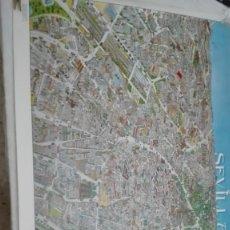 Mapas contemporáneos: CARTEL MAPA DE SEVILLA EDITADO PARA EXPO 92. Lote 201312128