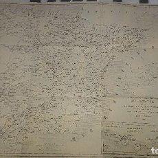 Cartes géographiques contemporaines: MAPA ITINERARIO POSTAL DE ESPAÑA BENITO CUARANTA E ICHAZU 1856 , MEDIDAS 59 X 76 , LEER DESCRIPCION. Lote 201354338