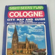 Mapas contemporáneos: COLOGNE. CITY MAP AND GUIDE. SCALE 1:10.000. 1986. Lote 202077797