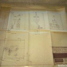 Mapas contemporáneos: PLANO ANTEPROYECTO DE FÁBRICA DE PIENSOS COMPUESTOS - BROYEURS GONDARD - S.A.P BARCELONA - 1961 -. Lote 202498283