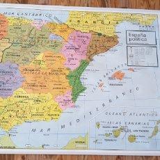 Mapas contemporáneos: MAPA MURALES PENÍNSULA IBÉRICA ESPAÑA POLITICA MAPAS MURALES VICENS VIVES 1984 REF1. Lote 202686603
