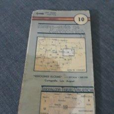 Mapas contemporáneos: MAPA - GUIA DE ESPAÑA N° 10 . TARRAGONA- TERUEL- VALENCIA. Lote 202982576