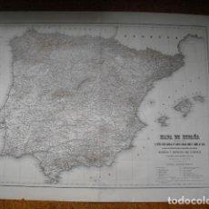 Mapas contemporáneos: MAPA DE ESPAÑA DE 1884 FORMADO POR EL MARISCAL DE CAMPO IBAÑEZ DE IBERO 102X73 CMS. Lote 203222918