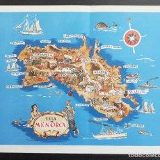 Mapas contemporáneos: BALEARES - MAPA ILUSTRADO DE LA ISLA DE MENORCA - 21 X 25 CM.. Lote 203788022