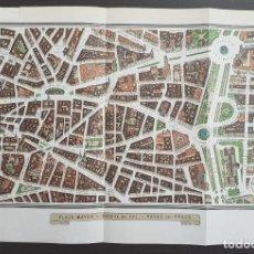 Mapas contemporáneos: PLANO DE MADRID - PLAZA DE ESPAÑA - PUERTA DEL SOL - PASEO DEL PRADO - NOMENCLÁTOR FRANQUISTA. Lote 203808522