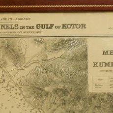 Mapas contemporáneos: EXCELENTE CARTA NAUTICA, MAPA, GOLFO DE KOTOR, MONTENEGRO. Lote 203902332
